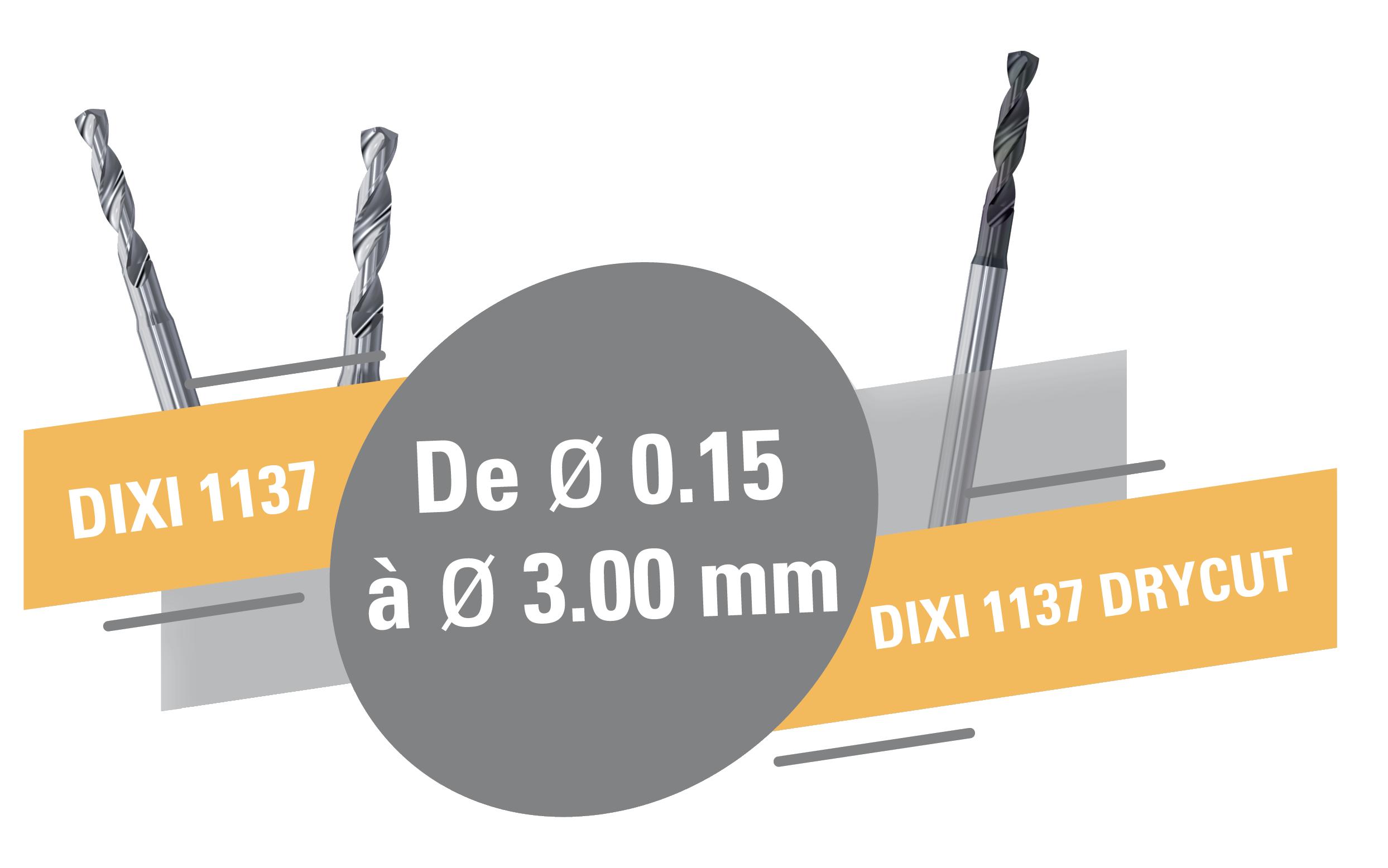 Nouveaux forets hélicoïdaux DIXI 1137 !