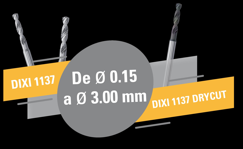 Nuevas brocas helicoidales DIXI 1137