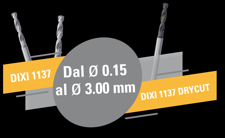 Nuove punte elicoidali DIXI 1137 !
