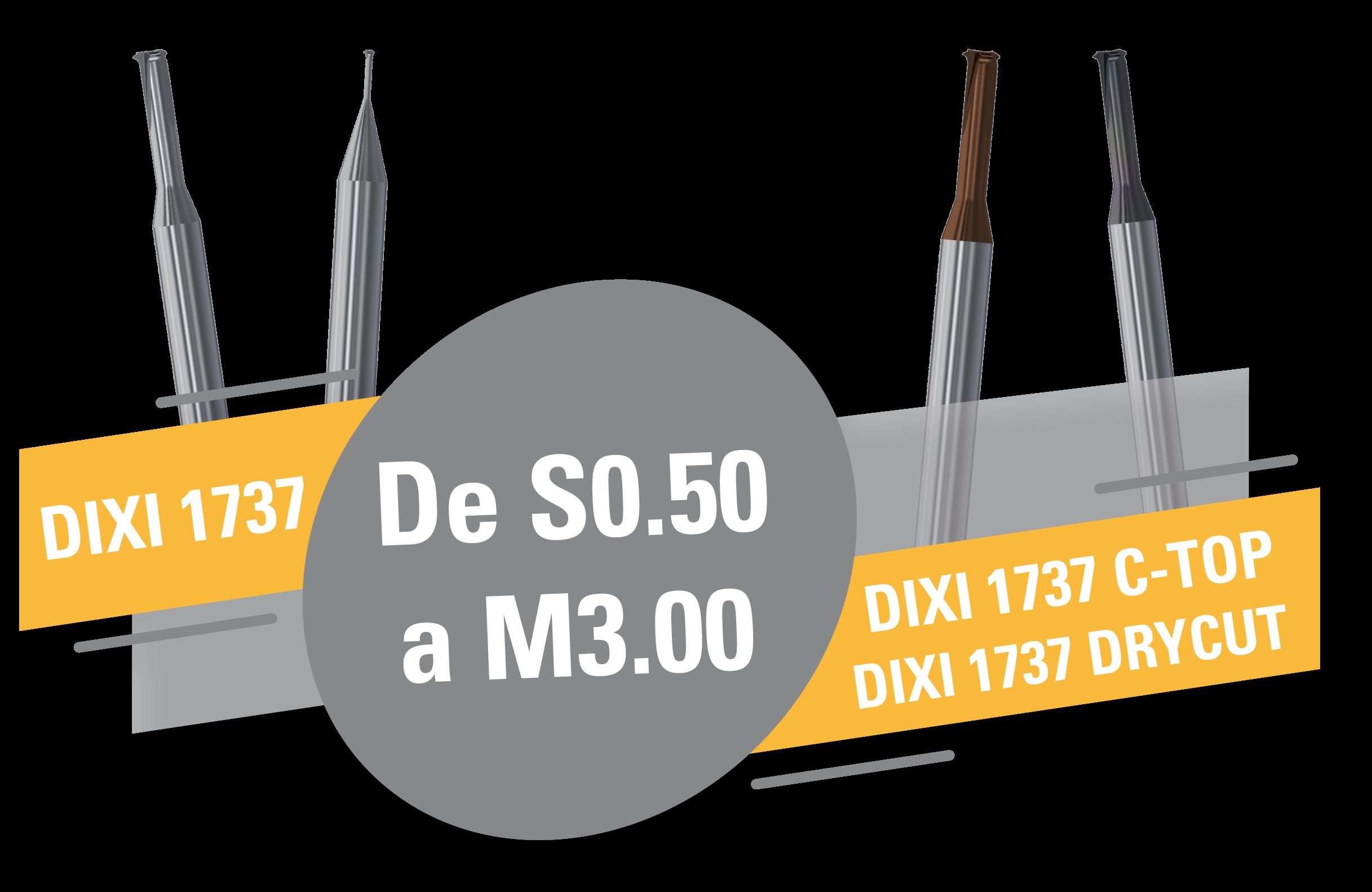 DIXI 1737 Nuevas herramientas torbellinadores con perfil completo !